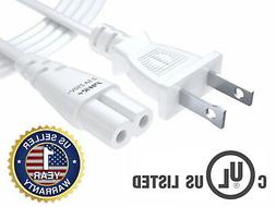 Pwr+ 6 Ft White AC Wall Power Cord for Led Lcd Tv Philips Pa