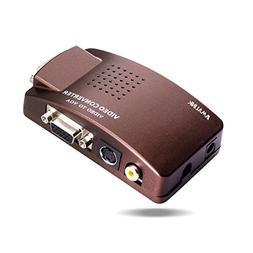 RCA AV S-Video VGA to VGA Converter Box, AMALINK HD Video an