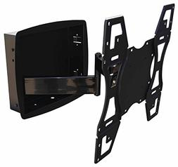 Recessed Flush In-Wall box Articulating Arm mount for LED TV