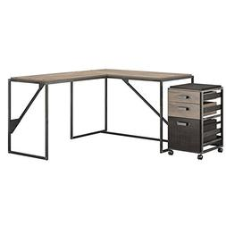 Bush Furniture Refinery 50W L Shaped Industrial Desk with 37