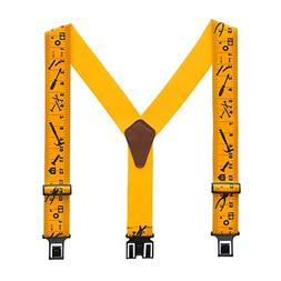 "Perry 2"" Regular Clip-On Hook End Belt Suspender w/ Yellow T"