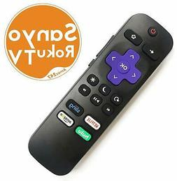 Replacement Remote FIT for  SANYO ROKU TV w/ Volume Control