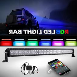 RGB LED Light Bar 5D 42Inch 800W CREE Strobe Flash Multi Col