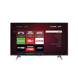 "TCL 40"" HD 1080P LED 120Hz Roku Smart TV with Metallic Desig"