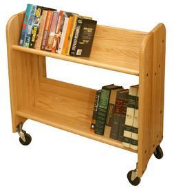 Catskill Craftsmen Rol-Rack with Tilted Shelves, Natural Oak
