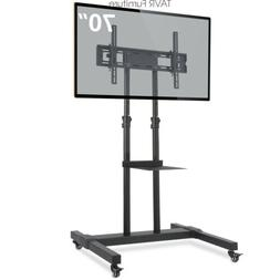 Rolling TV Stand with Lockable Caster Wheels for 32-70 inch