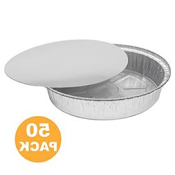 Round 9 Inch Disposable Aluminum Foil Pan Take Out Food Cont