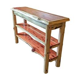 Furniture Barn USA Rustic Red Cedar Log TV Stand or Sofa Tab