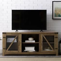 Rustic TV Stand Smart 4K Farmhouse Entertainment Center up t