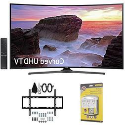 "Samsung Curved 55"" 4K Ultra HD Smart LED TV  - UN55MU6500 w/"