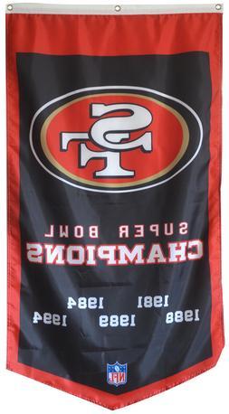 San Francisco 49ers 5 TIME Super bowl Champions  Flag Banner