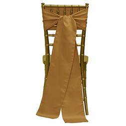Ultimate Textile  Satin 8 x 100-Inch Chair Tie Sash - for We