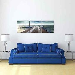 Furinno SENIC Bridge 60-inch x 20-inch 3-panel Canvas on Woo