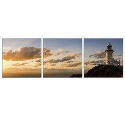 Furinno SENIC Light House 3-Panel Canvas on Wood Frame, 60 x