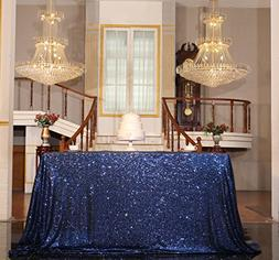 PartyDelight Sequin Tablecloth, Sequin Table Overlay Square,