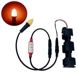 LED simulated flame light with flicker effects controller fo