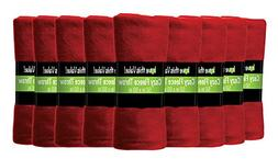 Imperial Home 24 Pack Wholesale Soft Cozy Fleece Blankets -