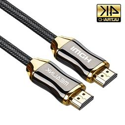 MEALINK High Speed HDMI Cable 10 Feet/3M Ultra HD 4K 2160p P