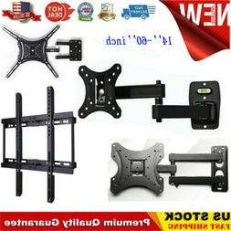 Standard TV Monitor Wall Mount Bracket Hanger Full Motion Ar