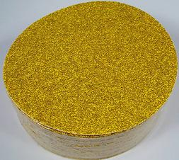 "50pc 8"" STICK ON PSA SANDPAPER DISC 36 GRIT A/O GoldLine MAD"