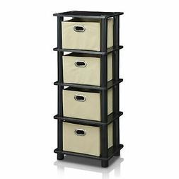 Storage Organizer Cabinet Closet with 4 Drawers Shelfs For C