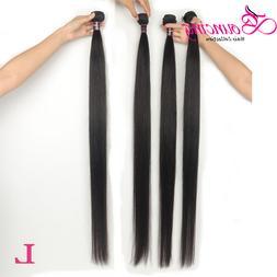 straight 4 bundles hair weave brazilian low