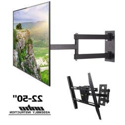 Swing Arm TV Wall Mount Bracket Long Reach Swivel for 22 36
