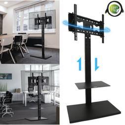 Swivel Universal Floor TV Stand with Mount &Audio Shelf for