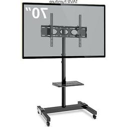 Mobile TV Stand with Wheels for 32 47 50 55 60 65 70 Inch Fl
