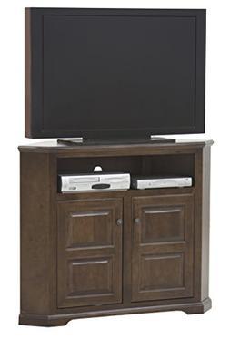 "Eagle Tall Savannah Corner TV Console, 50"" Wide, Soft White"