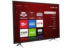 TCL 49 4K Ultra HD 120Hz HDR Roku Smart TV 2017 Model with 3