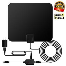 TV Antenna, ASONRL Indoor Digital TV ANTENNA Paper Thin Ampl