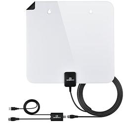 TV Antenna Indoor Digital Antenna 60-80 Mile 4K 1080P HD Ant