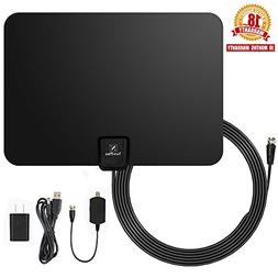 TV Antenna, NewPlus Indoor Amplified HDTV Antenna 50 Mile Ra