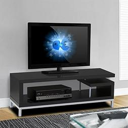 Topeakmart Black Wood Open Design Media Console TV Stand Hom