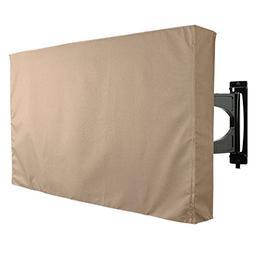 Outdoor TV Cover, Brown Universal Weatherproof Protector for