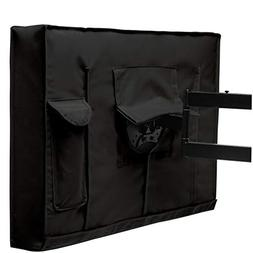 TV Outdoor Cover, Black Waterproof PVC Oxford Cloth Interior