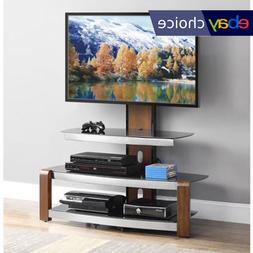 TV Holder Stand With Swinging Mount Entertainment Center Sto