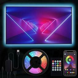 RIWNNI TV LED Backlight 6.56ft Smart RGB LED Strip Lights fo
