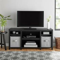 """Tv Stand 50"""" Parson Cubby Finish Storage Shelves 50 Inch W"""