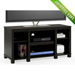 TV Stand For 50 Inch Media Center Storage Shelves Wood Flat