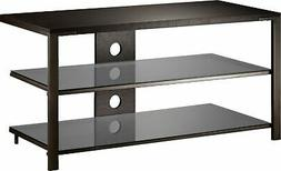 """Insignia- TV Stand for Most TVs Up to 48"""" - Espresso/Gray"""