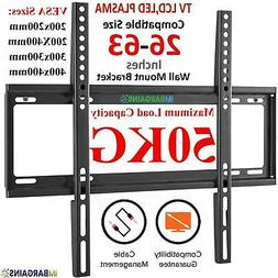 TV Wall Bracket Mount Slim Fixed For 32 40 45 50 55 60 65 70