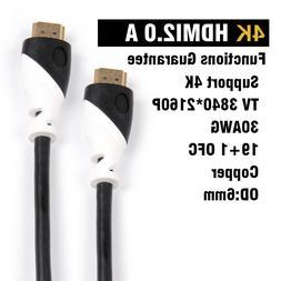 Ultra HD HDMI Cable 2.0 High Speed Cord - 4K HD TV PREMIUM H