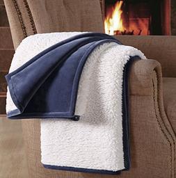 F&A Ultra Soft Warm 50-Inch-by-70-Inch Faux Sheepskin Throw