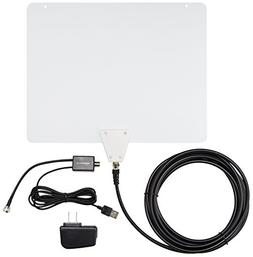 AmazonBasics Ultra Thin Indoor TV Antenna - 50 Mile Range