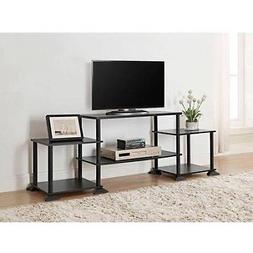unique black TV stand table Mainstays Entertainment Center f
