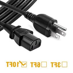 Chanzon 10ft Universal AC Power Cord for Personal Computer,