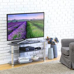FITUEYES Universal Glass Tv Stand for 24 35 40 42 46 up to 5