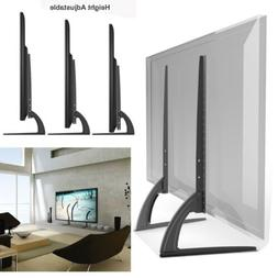 Universal LCD Flat Screen Mount TV Table Top Stand Base Blac